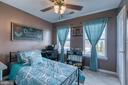 Bedroom 4 with Ceiling Fan - 1819 COTTON TAIL DR, CULPEPER