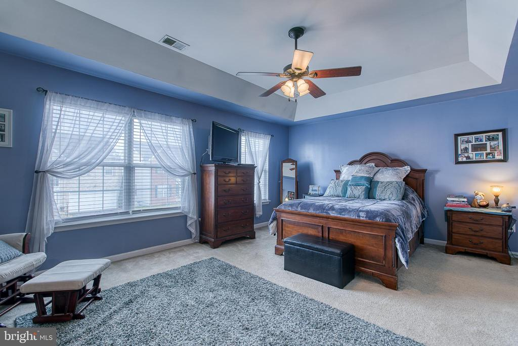 Master Bedroom with tray ceiling - 1819 COTTON TAIL DR, CULPEPER