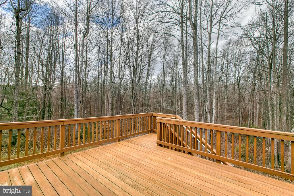 Enjoy the nature from your deck. - 35 DONOVAN LN, STAFFORD
