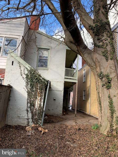 Property from back yard - 240 E 2ND ST, FREDERICK