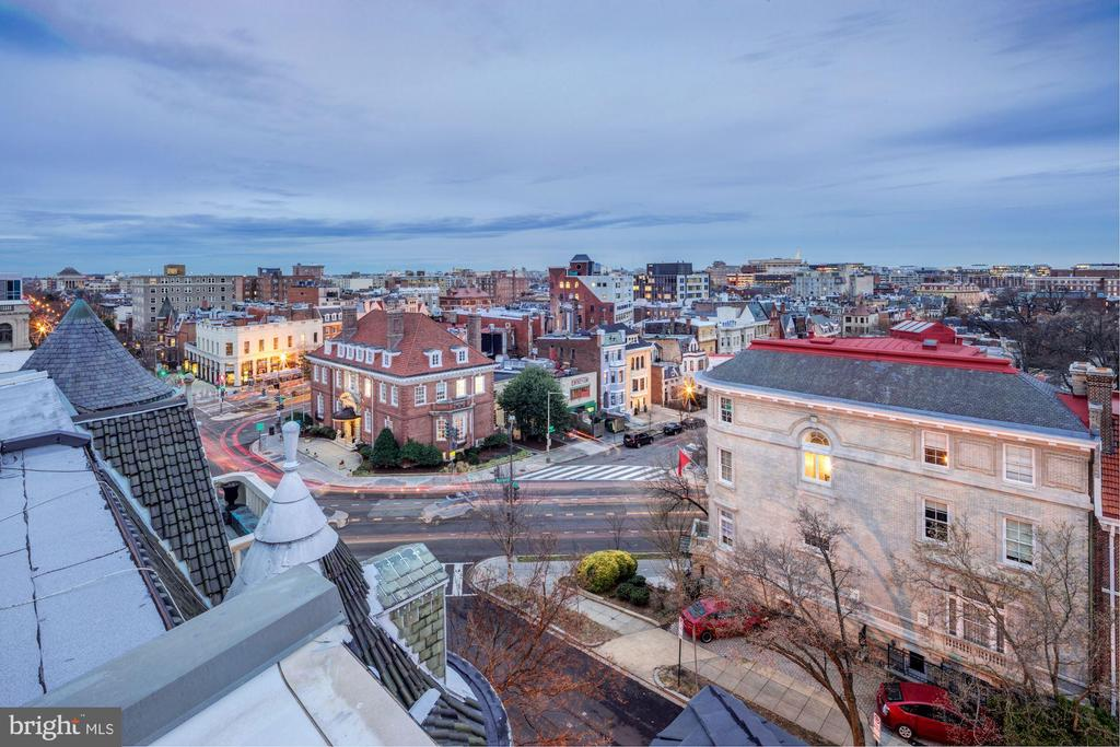 Fantastic View from Upper Roof Deck - 2113 S ST NW, WASHINGTON