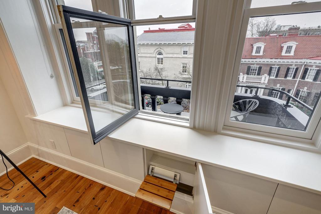 Hidden Step provides access to Juliet Balcony - 2113 S ST NW, WASHINGTON