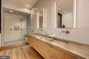 Owners' Bathroom with Concrete Counters - 2113 S ST NW, WASHINGTON