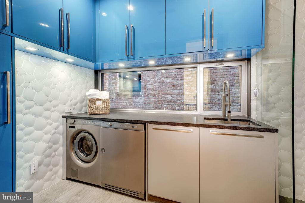 Laundry Room/Hall Bathroom with Asko Washer/Dryer - 2113 S ST NW, WASHINGTON