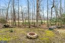Back yard, firepit and the golf course. - 115 GOLD RUSH DR, LOCUST GROVE