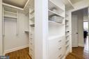 Expansive custom walk-in closet - 700 NEW HAMPSHIRE AVE NW #821, WASHINGTON