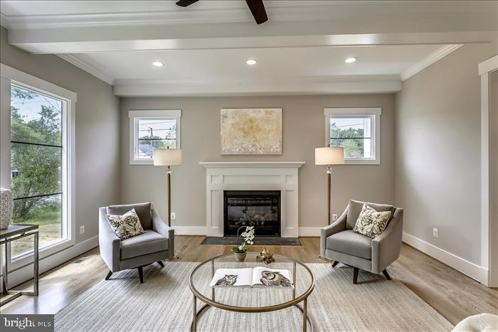 Builder's previously completed home - Family Room - 2103 GREENWICH ST, FALLS CHURCH