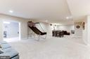 Spacious rec room with rough in for wet bar - 38261 VALLEY RIDGE PL, HAMILTON
