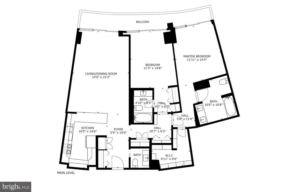 Floor plan - 700 NEW HAMPSHIRE AVE NW #821, WASHINGTON