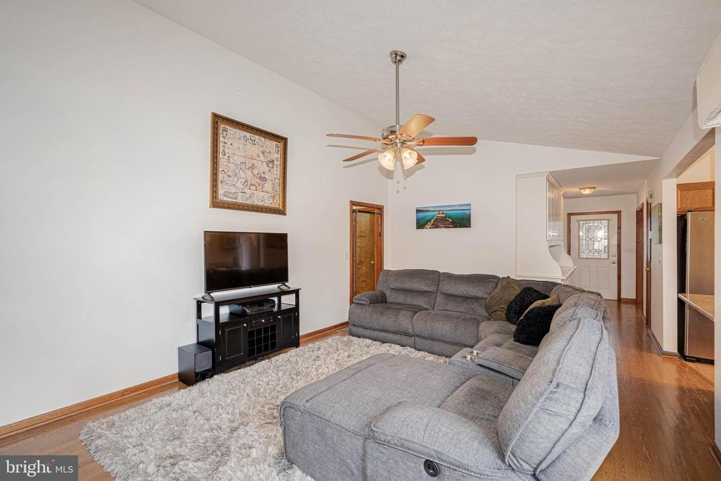 Vaulted Ceilings in Family Room - 217 MEADOWVIEW LN, LOCUST GROVE