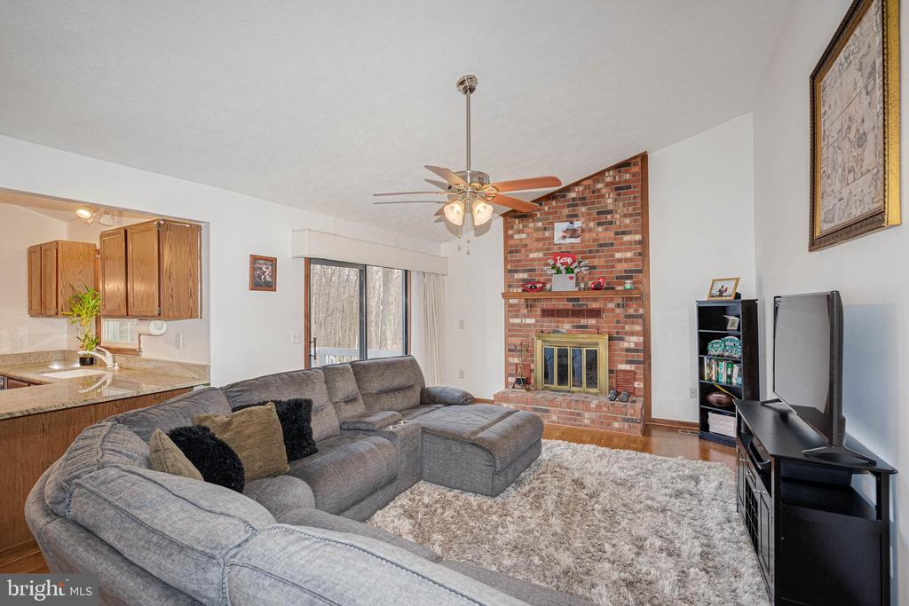 Family Room with Fireplace - 217 MEADOWVIEW LN, LOCUST GROVE