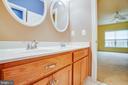 Jack and Jill bathroom - 6 SCARLET FLAX CT, STAFFORD