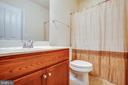Lower-level full bathroom - 6 SCARLET FLAX CT, STAFFORD