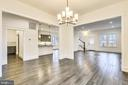 Dining area - Open floor plan - 637 JEFFERSON ST, HERNDON