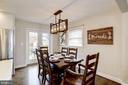 Dining Area w/ New French Doors to New Deck! - 6320 24TH ST N, ARLINGTON