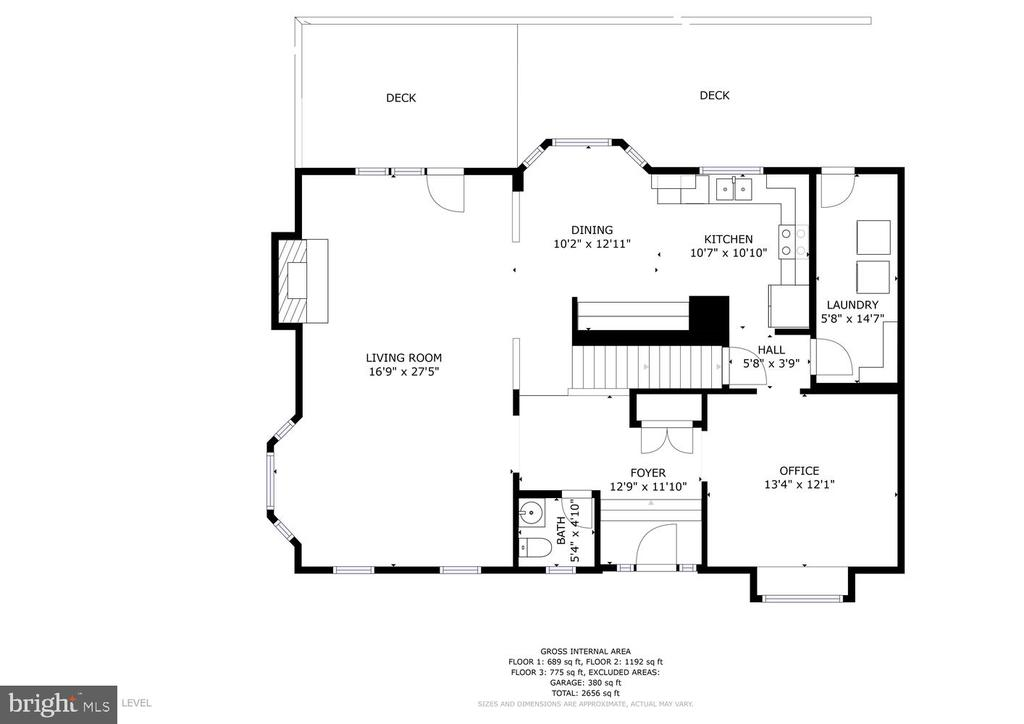 Main level floor plan - 3220 TITANIC DR, STAFFORD
