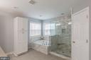 SPA-LIKE MASTER BATHROOM WITH LINEN CLOSET - 91 MADELINE LN, STAFFORD