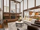 2-story family room with wood-burning fireplace - 2821 N QUEBEC ST, ARLINGTON