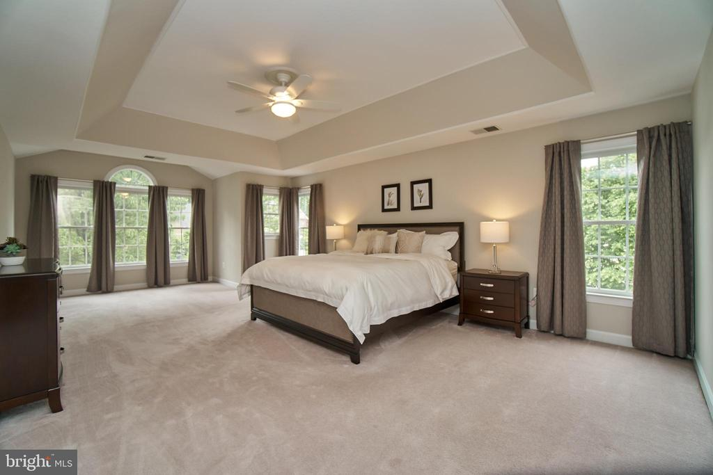 Beautiful master suite w/recessed ceiling - 1590 MONTMORENCY DR, VIENNA