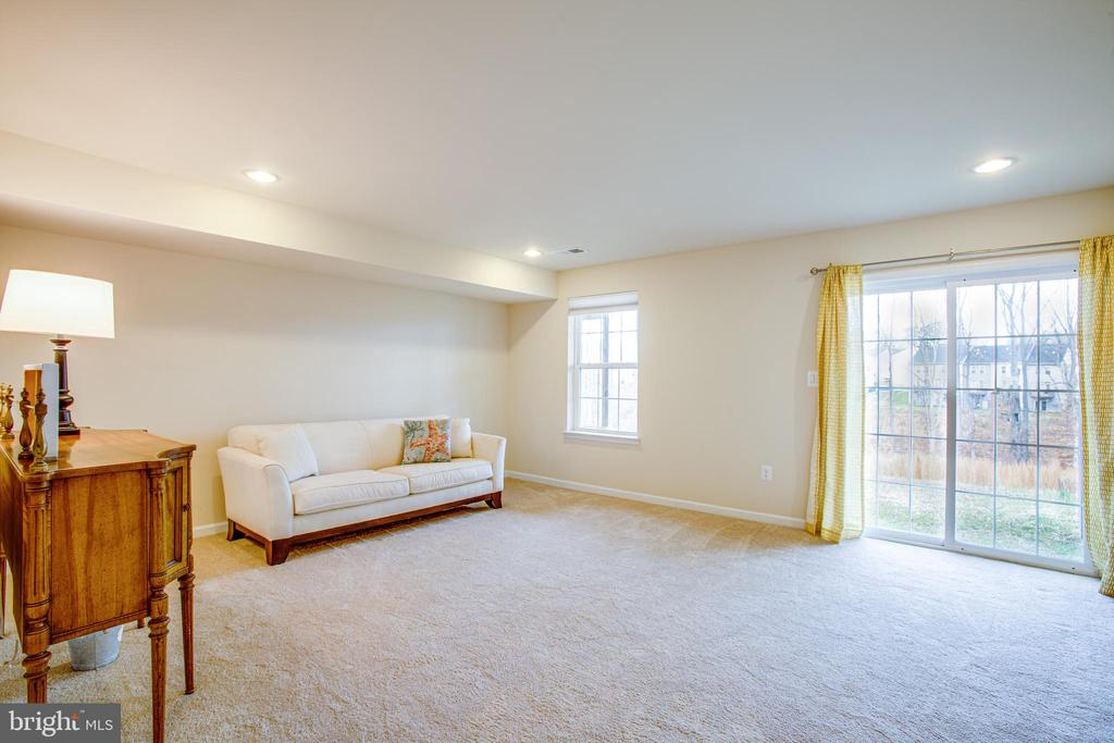 Lots of natural light in the basement rec room - 120 TREE LINE DR, FREDERICKSBURG