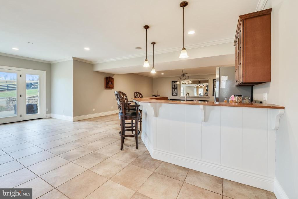 Lower Level Wet Bar - 15730 OLD WATERFORD RD, PAEONIAN SPRINGS
