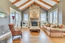 Family Room Off Of Kitchen w/Stone Fireplace - 15730 OLD WATERFORD RD, PAEONIAN SPRINGS