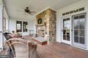 Covered Porch w/IPE Decking & Stone Fireplace - 15730 OLD WATERFORD RD, PAEONIAN SPRINGS