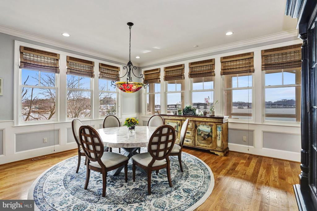 Dining area with South River views - 203 CAPE SAINT JOHN RD, ANNAPOLIS