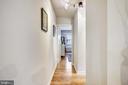 Hallway leading to bedroom & bathroom - 1801 CLYDESDALE PL NW #224, WASHINGTON