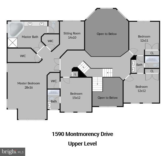 Upper-Level Floor Plans - 1590 MONTMORENCY DR, VIENNA