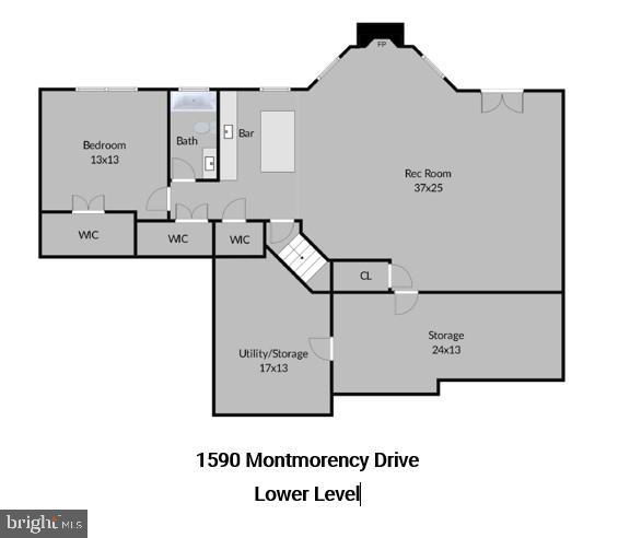Lower Level Floor Plans - 1590 MONTMORENCY DR, VIENNA
