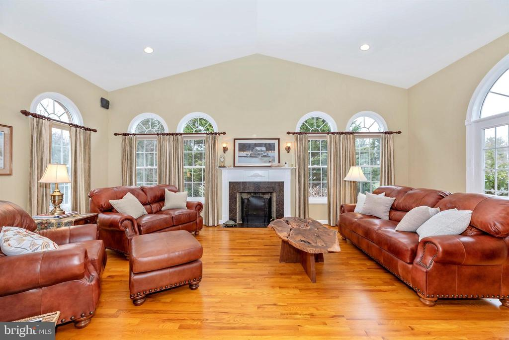 Conservatory with Wood Stove & Arched Transoms - 5221 MUIRFIELD DR, IJAMSVILLE