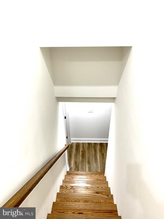 stairs down to basement - 7010 ORIOLE AVE, SPRINGFIELD