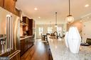 Open kitchen - dining - living room combintation. - 6103 OLIVET DR, ALEXANDRIA