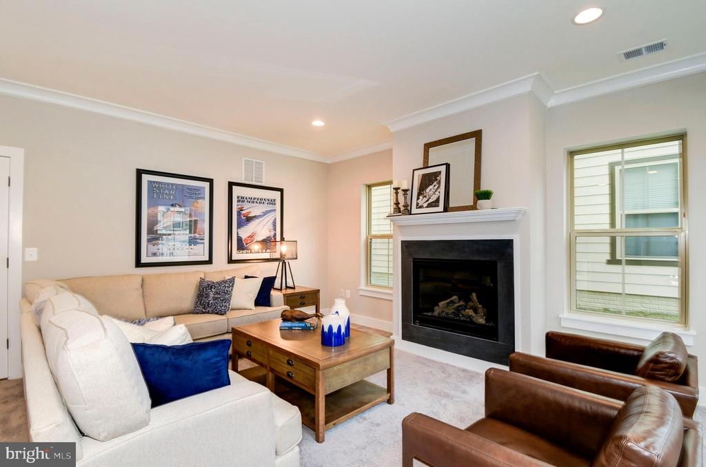 Cozy up to the gas fireplace in the family room. - 6103 OLIVET DR, ALEXANDRIA