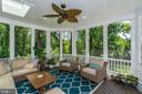 Newly Added Screened Porch - 8429 BROOK RD, MCLEAN