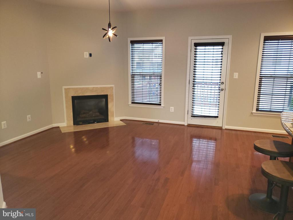 Family room with fireplace off kitchen - 41909 GALLBERRY TER, ALDIE