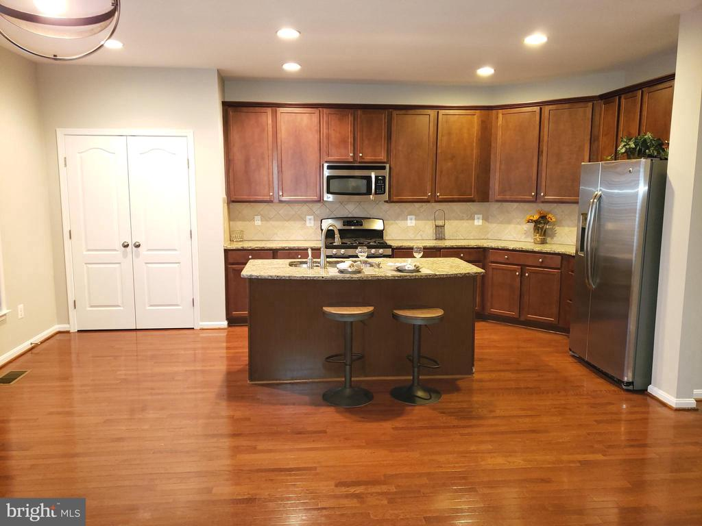 Island kitchen with stainless appliances - 41909 GALLBERRY TER, ALDIE