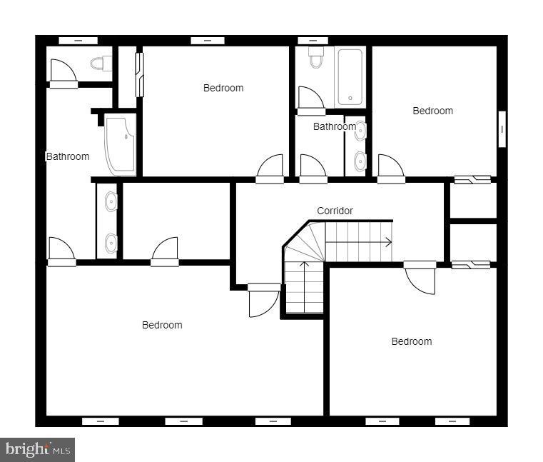 Upper Level Floor Plan - 137 GARDENIA DR, STAFFORD
