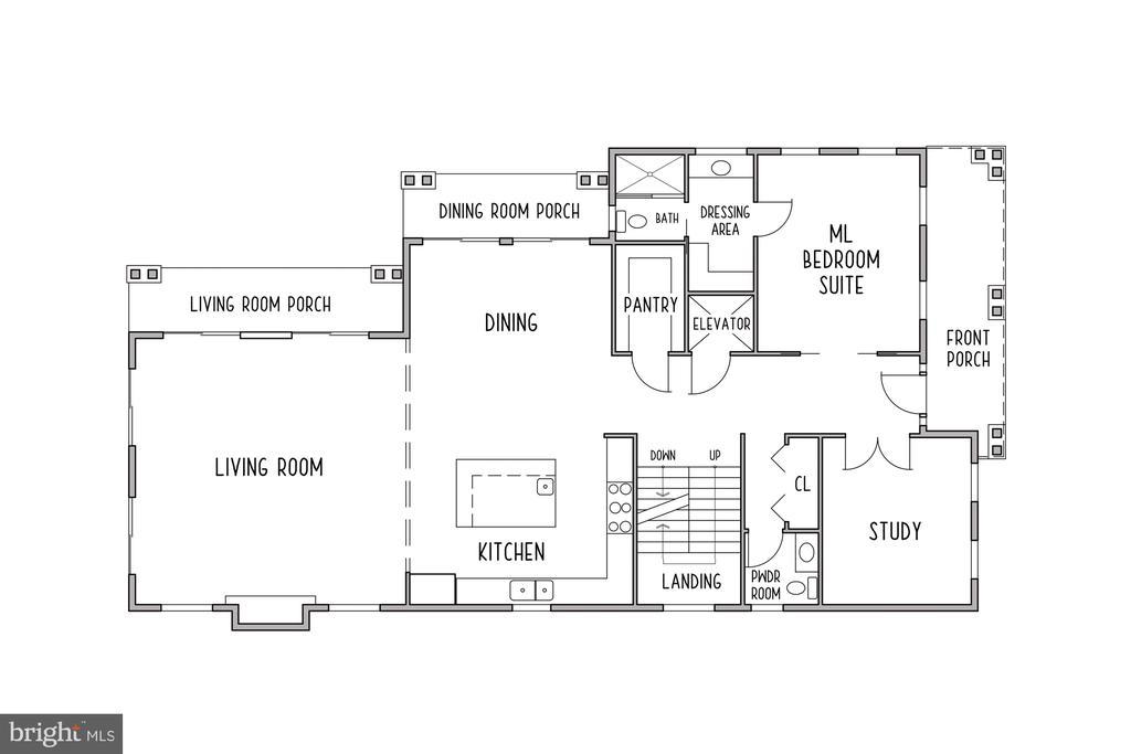 Main Level Floor Plan - 3061 N POLLARD ST, ARLINGTON