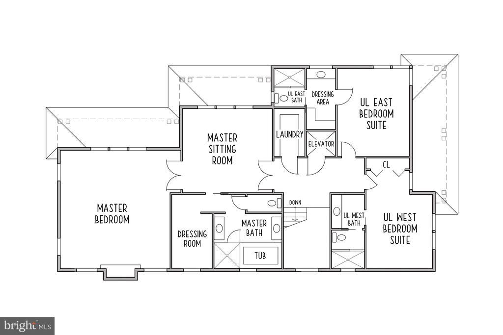 Upper Level Floor Plan - 3061 N POLLARD ST, ARLINGTON
