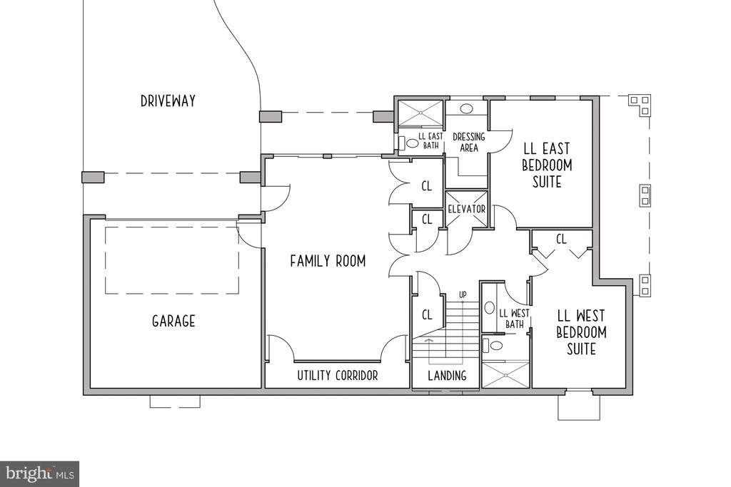 Lower Level Floor Plan - 3061 N POLLARD ST, ARLINGTON