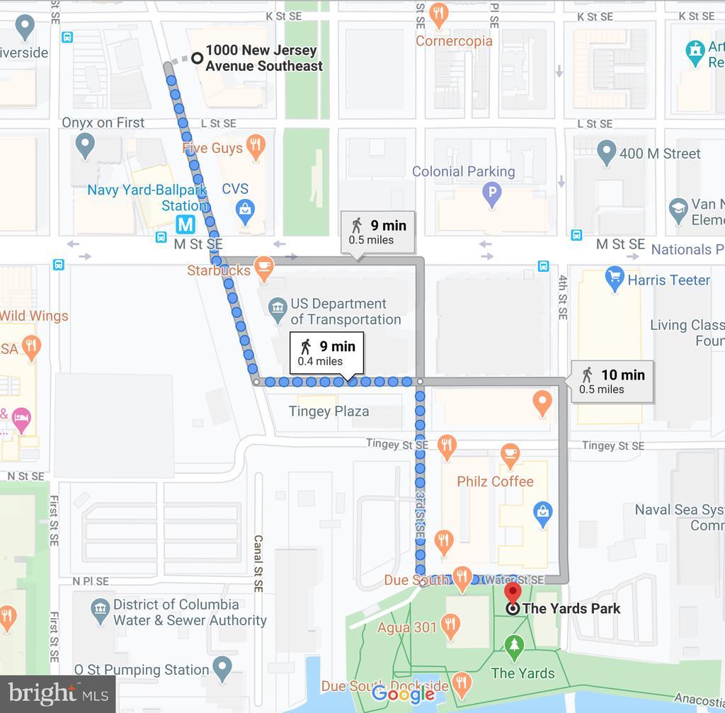 9 min walk to The Yards Park - 1000 NEW JERSEY AVE SE #606, WASHINGTON