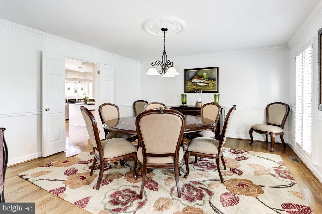 large inviting dining room - 13701 ESWORTHY RD, GERMANTOWN