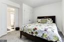 Lower level bedroom with bathroom - 13701 ESWORTHY RD, GERMANTOWN