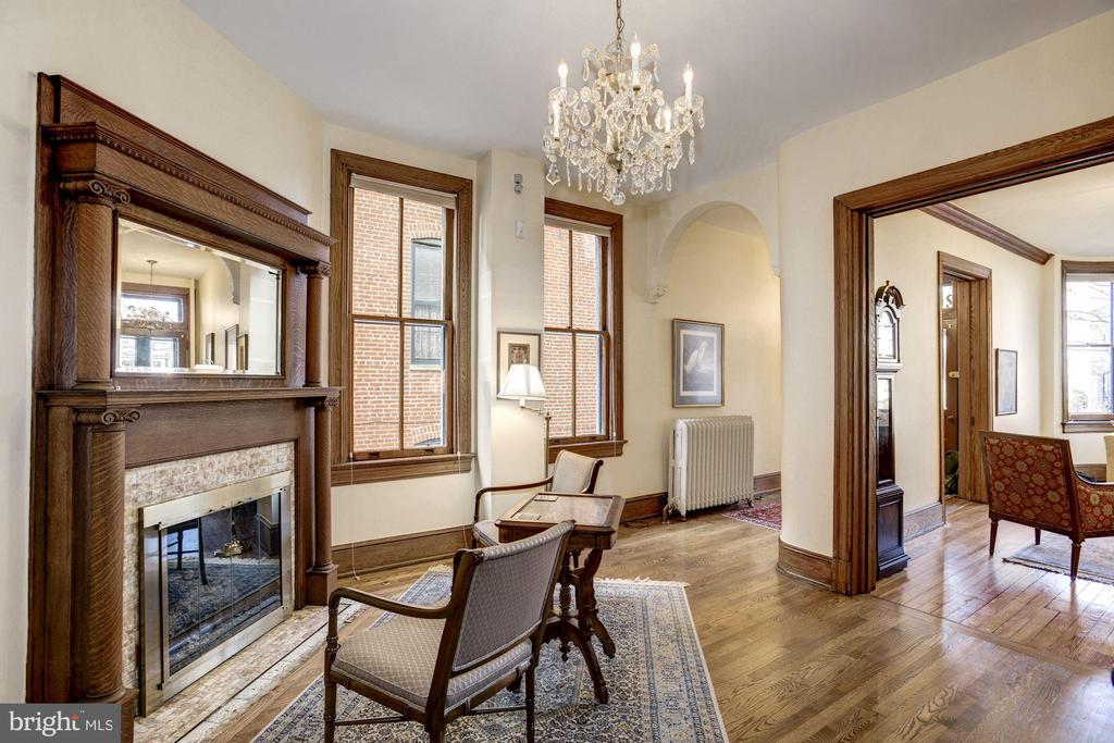 A parlor with yet another gas fireplace! - 226 8TH ST SE, WASHINGTON