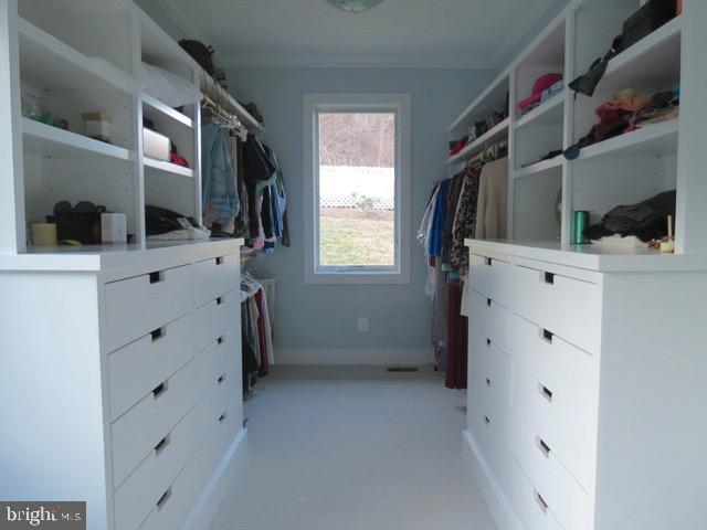 Master Suite closet with built in drawers - 335 FODDERSTACK RD, WASHINGTON