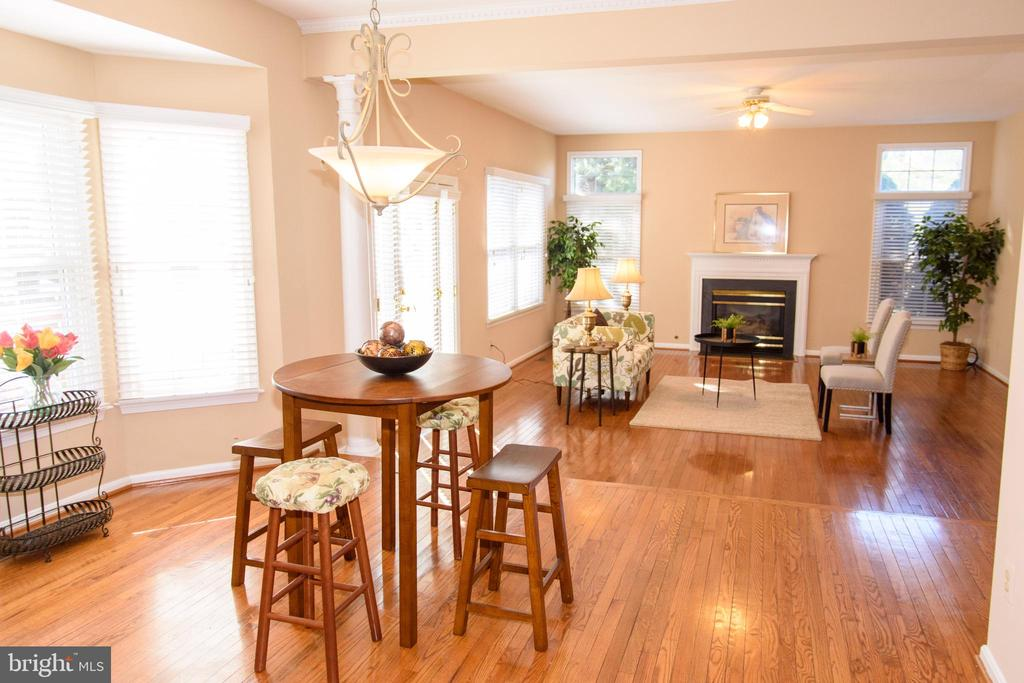 Sunlit eat-in and family room areas - 47400 GALLION FOREST CT, STERLING