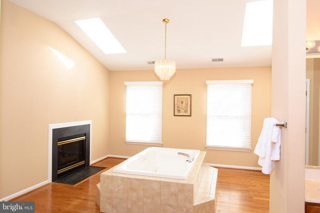 Grand master bathroom with skylights - 47400 GALLION FOREST CT, STERLING