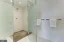 Master Shower with Teak Floor - 1111 24TH ST NW #PH105, WASHINGTON